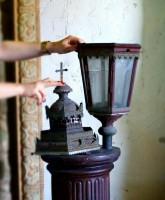 lampa na palu, antyki na sprzedaż