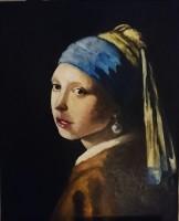 obraz na zamówienie, dziewczyna z perłą, Rafał Mikulski