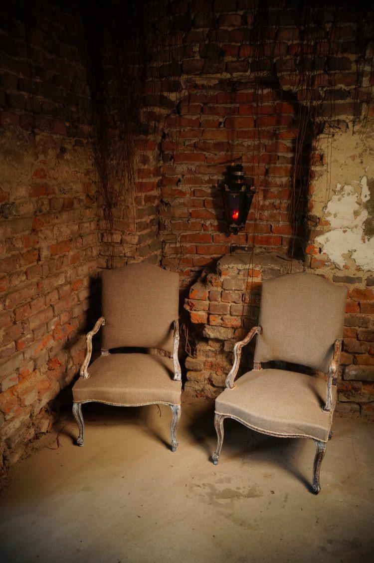 fotele ludwikowskie po renowacji, antykikr, antyki k&R, renowacja wrocław