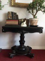 wiktoriański stolik karciany, antyk, antyki k&r, stolik karciany, konsola,