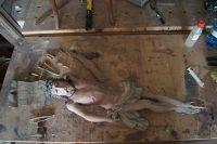 renowacja barokowego krucyfiksu, antyki k&R