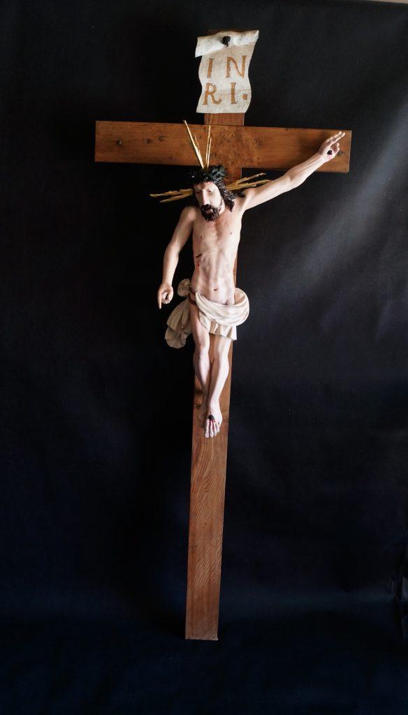 enowacja barokowego krucyfiksu, renowacja krzyża, antyki k&R